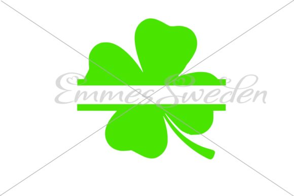 Download Free Lucky Clover Split St Patricks Day Svg Graphic By Emmessweden for Cricut Explore, Silhouette and other cutting machines.