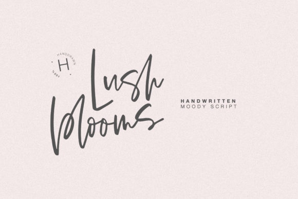 Print on Demand: Lush Blooms Script & Handwritten Font By Dmitrii Chirkov
