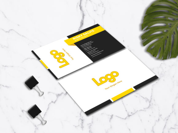 Download Free Luxury Business Card Design Template Graphic By Riskysalvis for Cricut Explore, Silhouette and other cutting machines.