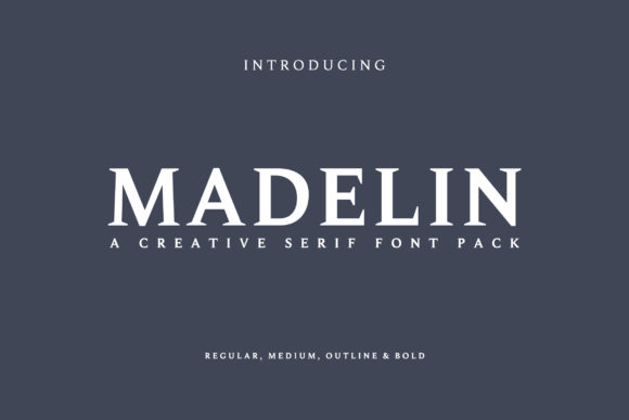 Print on Demand: Madelin Serif Font By Creative Tacos