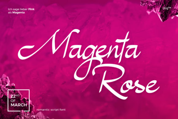 Print on Demand: Magenta Rose Script & Handwritten Font By diqtam