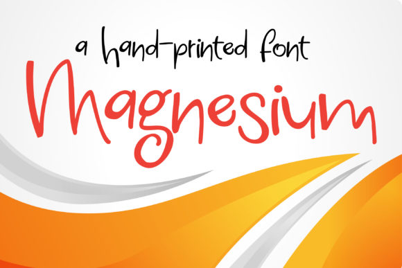 Print on Demand: Magnesium Script & Handwritten Font By Illustration Ink