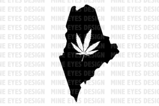 Maine Weed State SVG Graphic By Mine Eyes Design