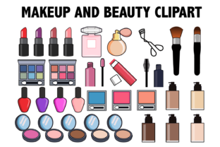 Makeup and Beauty Clipart Graphic By Mine Eyes Design