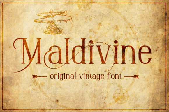 Print on Demand: Maldivine Blackletter Font By gumacreative