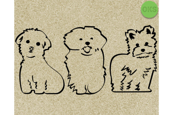 Download Free Maltese Dog Clipart Graphic By Crafteroks Creative Fabrica for Cricut Explore, Silhouette and other cutting machines.