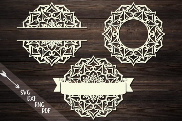 Download Free Mandala Monogram Frame Bundle Svg Cut Graphic By Cornelia for Cricut Explore, Silhouette and other cutting machines.