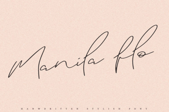 Print on Demand: Manila Flo Script & Handwritten Font By Katie Holland
