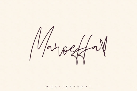 Print on Demand: Manoeffa Script & Handwritten Font By Katie Holland