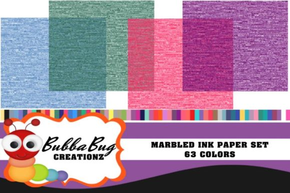 Marbled Ink Paper Set Graphic Backgrounds By BUBBABUG