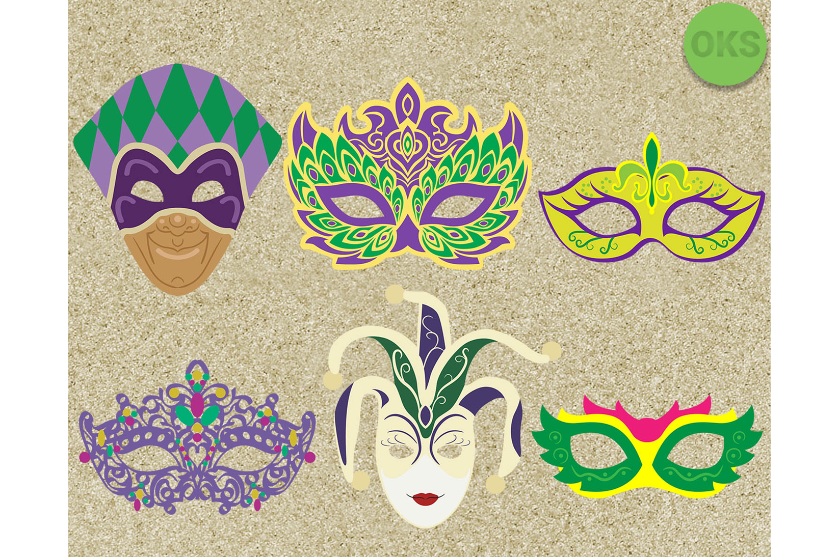 Download Free Mardi Gras Vector Graphic By Crafteroks Creative Fabrica for Cricut Explore, Silhouette and other cutting machines.