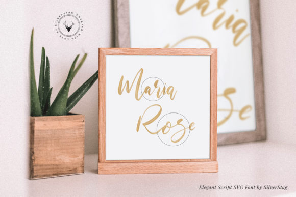 Print on Demand: Maria Rose Color Fonts Font By SilverStag - Image 5