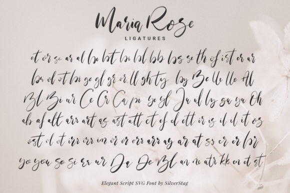 Print on Demand: Maria Rose Color Fonts Font By SilverStag - Image 8