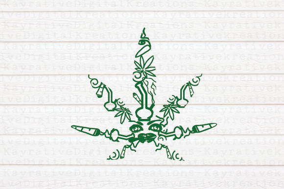 Download Free Marijuana Mandala Svg Graphic By Kayla Griffin Creative Fabrica for Cricut Explore, Silhouette and other cutting machines.