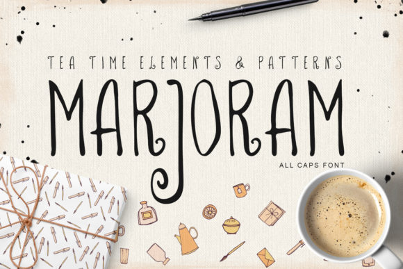 Print on Demand: Marjoram Script & Handwritten Font By webvilla