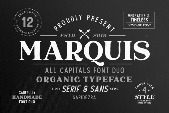 Print on Demand: Marquis Duo Serif Font By saridezra