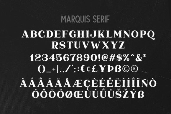 Marquis Duo Font Downloadable Digital File