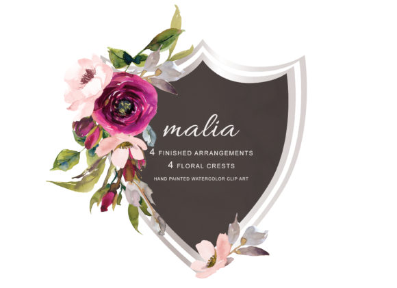 Marsala & Blush Flowers Clipart Graphic Illustrations By Patishop Art
