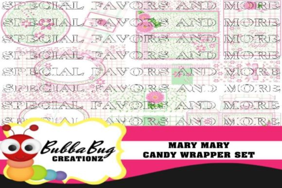 Mary Mary Candy Wrapper Set Graphic Crafts By BUBBABUG