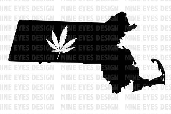 Massachusetts Weed State SVG Graphic Icons By Mine Eyes Design - Image 1