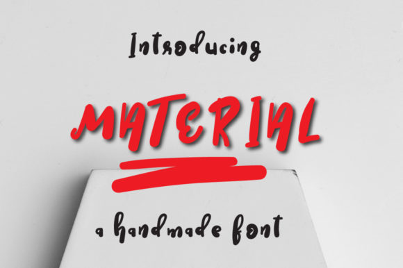 Print on Demand: Material Display Font By Autumn Designs