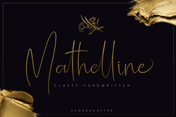 Print on Demand: Mathelline Script & Handwritten Font By almarkhatype
