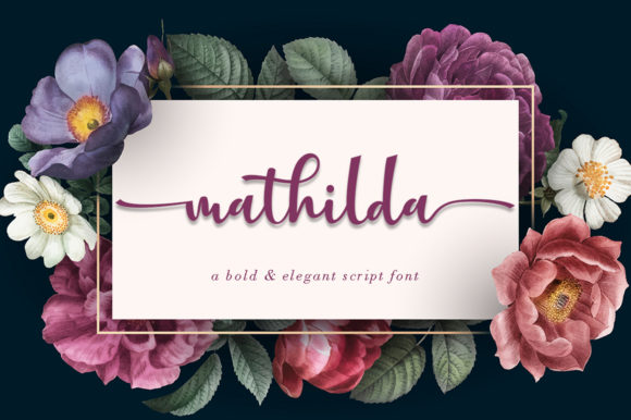 Print on Demand: Mathilda Script & Handwritten Font By Uloel Design