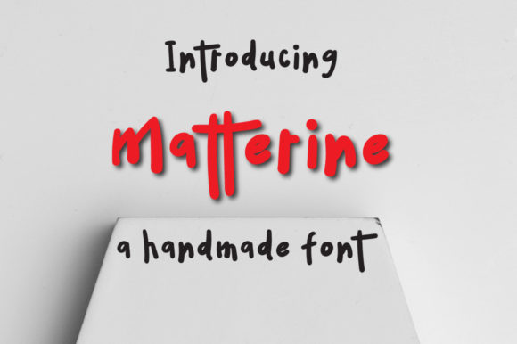 Print on Demand: Matterine Display Font By Autumn Designs