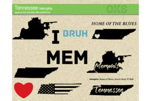 Download Free Memphis Tennessee Vector Graphic By Crafteroks Creative Fabrica for Cricut Explore, Silhouette and other cutting machines.