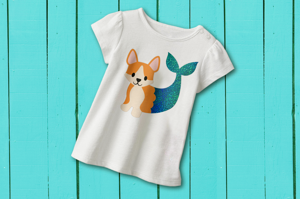 Download Free Mermaid Corgi Graphic By Risarocksit Creative Fabrica for Cricut Explore, Silhouette and other cutting machines.