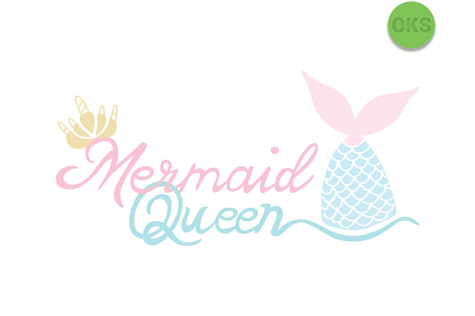Download Free Mermaid Queen Vector Graphic By Crafteroks Creative Fabrica for Cricut Explore, Silhouette and other cutting machines.