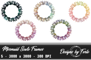 Mermaid Scale Frames - Set of Five Graphic By Heidi Vargas-Smith
