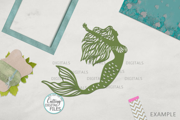 Mermaids Silhouette Bundle Svg Cut out Graphic Crafts By Cornelia - Image 7