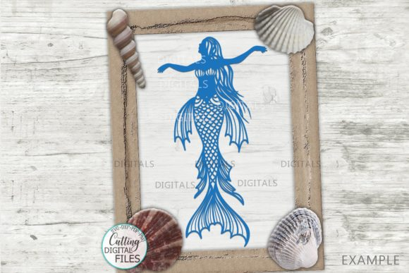 Mermaids Silhouette Bundle Svg Cut out Graphic Crafts By Cornelia - Image 8