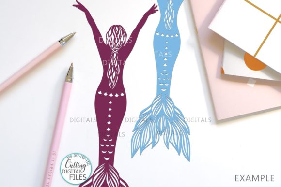 Mermaids Silhouette Bundle Svg Cut out Graphic Crafts By Cornelia - Image 9