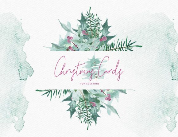 Merry Christmas Watercolor Graphic Illustrations By Creativeqube Design - Image 2
