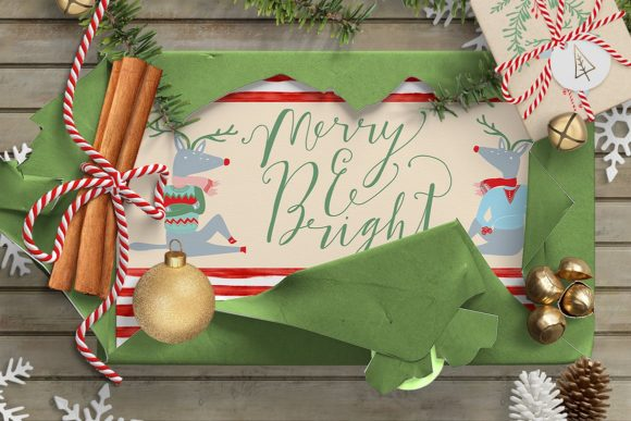 Merry and Bright Clipart Graphic Illustrations By Creativeqube Design - Image 2