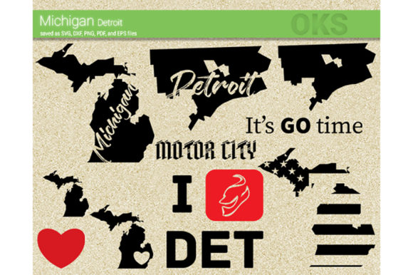 Download Free Michigan Detroit Svg Vector Graphic By Crafteroks Creative Fabrica for Cricut Explore, Silhouette and other cutting machines.