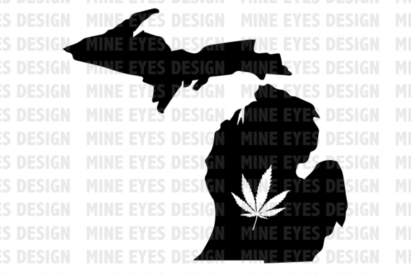 Print on Demand: Michigan Weed State SVG Graphic Icons By Mine Eyes Design - Image 1