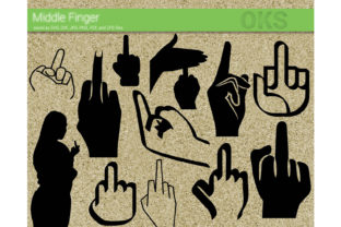 Print on Demand: Middle Finger Vector Graphic Crafts By CrafterOks