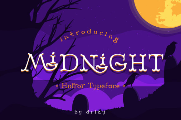 Print on Demand: Midnight Display Font By sandrifaqih