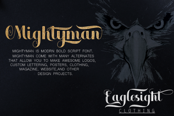 Mightyman Font Downloadable Digital File
