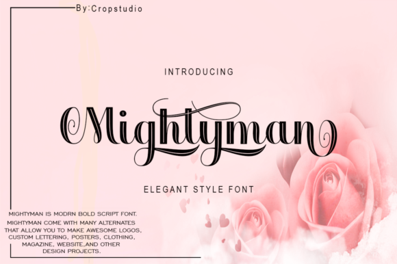 Print on Demand: Mightyman Script & Handwritten Font By Ageless Type