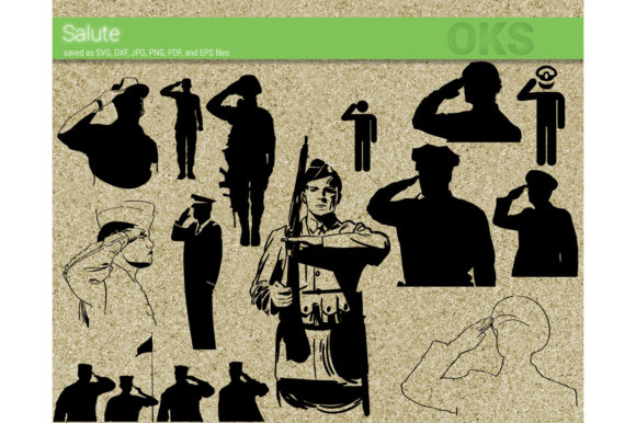 Download Free Military Soldier Salute Svg Vector Graphic By Crafteroks for Cricut Explore, Silhouette and other cutting machines.