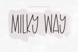 Milky Way Font By KA Designs