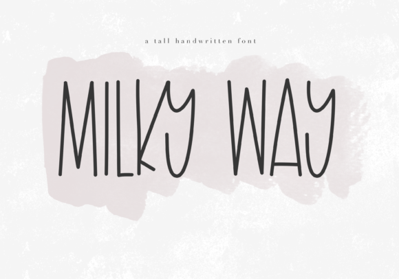 Print on Demand: Milky Way Display Font By KA Designs
