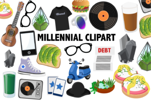 Millennial Clipart Graphic By Mine Eyes Design