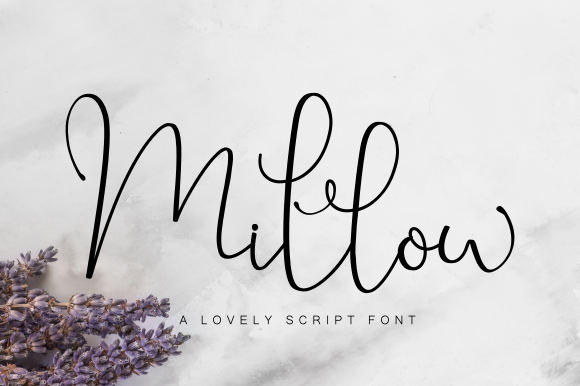 Print on Demand: Millow Script & Handwritten Font By Fridaytype