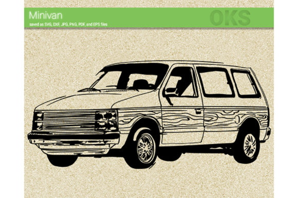 Download Free Minivan Graphic By Crafteroks Creative Fabrica for Cricut Explore, Silhouette and other cutting machines.