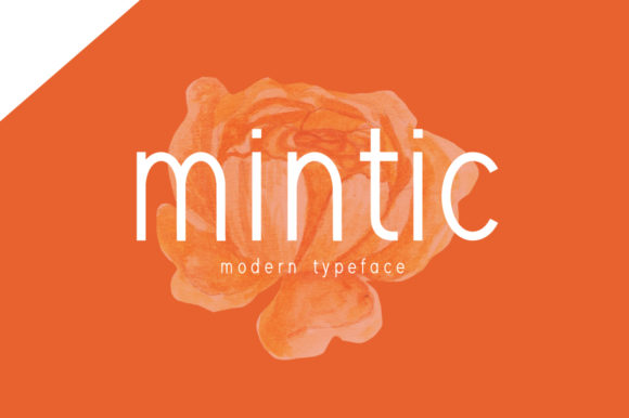 Print on Demand: Mintic Display Font By Shattered Notion
